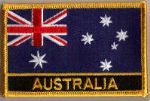 Australia Embroidered Flag Patch, style 09.